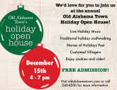 Old Alabama Town Open House